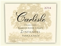 Carlisle Papera Ranch Zinfandel 2014 (Russian River Valley, California) - [AG 92-94] [RP 91-93]