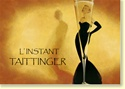 """L'instant Taittinger"" Champagne, with Grace Kelly [Horizontal] 37"" x 29"" Framed with Craftman ""California Mission"" Espresso Color Solid Wood Frame"