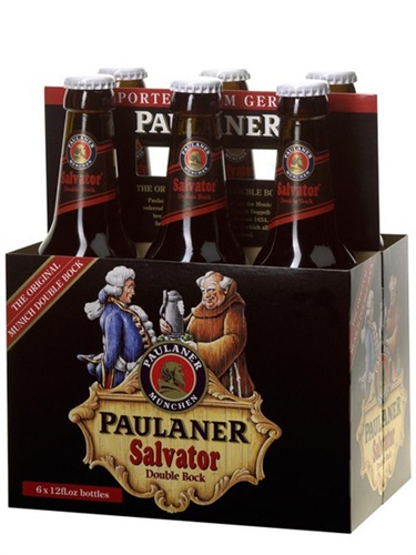 Brewery: Paulaner Town: Munich Style: Dopplebock Color: deep amber, lightly  filtered. Head: tan, creamy, fading. Nose: malty but a hint of hops