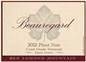 Beauregard Coast Grade Vineyard Pinot Noir 2012 (Santa Cruz Mountains, California)