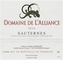 Domaine de L'Alliance Bordeaux Blanc Sec 2012 (Bordeaux, France)