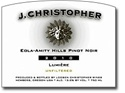 "J. Christopher ""Lumiere"" Pinot Noir 2013 (Eola-Amity Hills, Oregon) - [WE 92]"