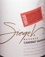[TWO-PACK COMBO: Buy One (1) Bottle Get 2nd Bottle for $0.01 Cent] Siegel Reserve Cabernet Sauvignon 2010 (Colchagua Valley, Chile)